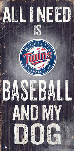 Minnesota Twins Baseball and My Dog Sign
