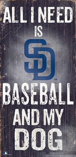 San Diego Padres Baseball and My Dog Sign