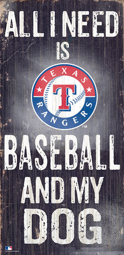 Texas Rangers Baseball and My Dog Sign