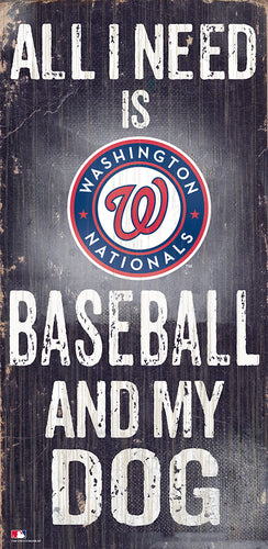 Washington Nationals Baseball and My Dog Sign
