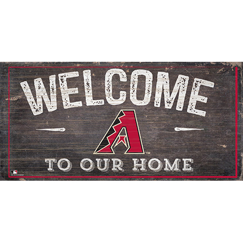 Arizona Diamondbacks Welcome Distressed Sign