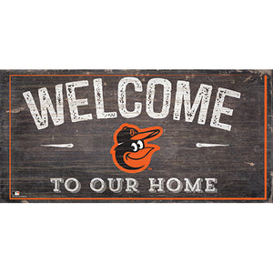 Baltimore Orioles Welcome Distressed Sign