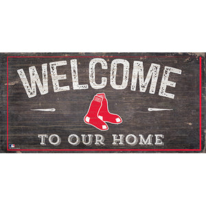Boston Red Sox Welcome Distressed Sign