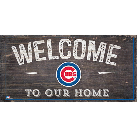 Chicago Cubs Welcome Home Sign