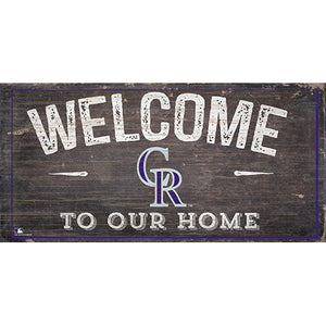 Colorado Rockies Welcome Home Sign