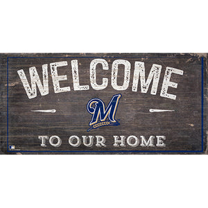 Milwaukee Brewers Welcome Distressed Sign