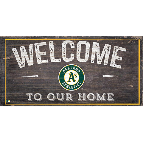 Oakland Athletics Welcome Distressed Sign