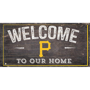 Pittsburgh Pirates Welcome Distressed Sign