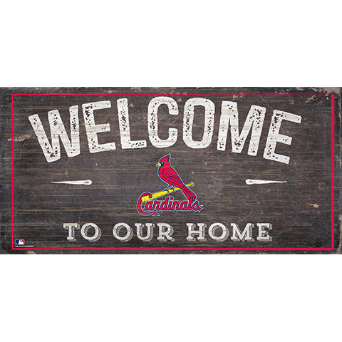 St. Louis Cardinals Welcome Home Sign