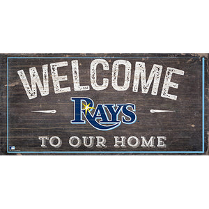 Tampa Bay Rays Welcome Distressed Sign