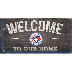 Toronto Blue Jays Welcome Distressed Sign