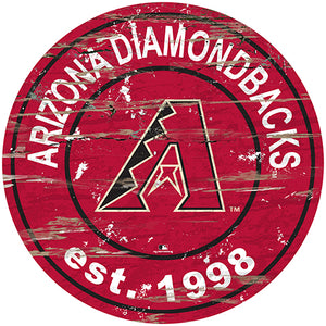 "Arizona Diamondbacks 24"" Established Date Round Sign"
