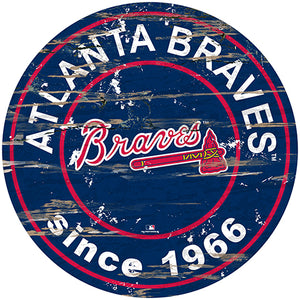 "Atlanta Braves 24"" Established Date Round Sign"