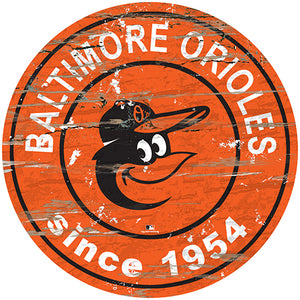 "Baltimore Orioles 24"" Established Date Round Sign"