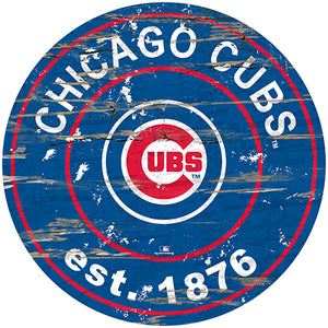 "Chicago Cubs 24"" Est. Date Round Sign"