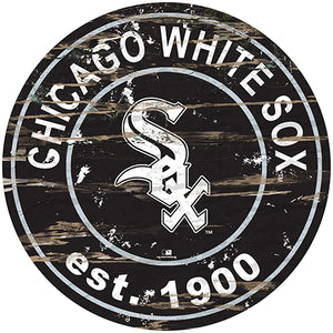 "Chicago White Sox 24"" Established Date Round Sign"