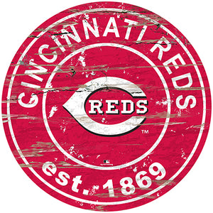 "Cincinnati Reds 24"" Established Date Round Sign"