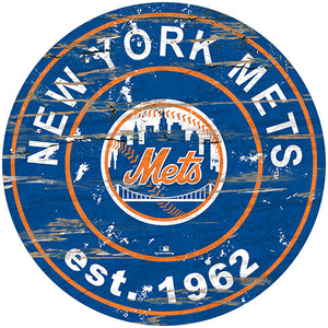 "New York Mets 24"" Established Date Round Sign"