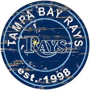 "Tampa Bay Rays 24"" Established Date Round Sign"