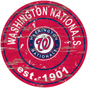"Washington Nationals 24"" Established Date Round Sign"