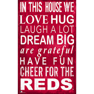 Cincinnati Reds In This House Sign