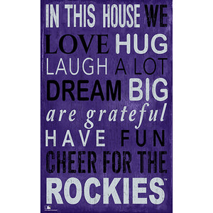 Colorado Rockies In This House Sign