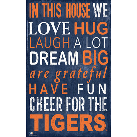 Detroit Tigers In This House Sign
