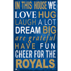 Kansas City Royals In This House Sign