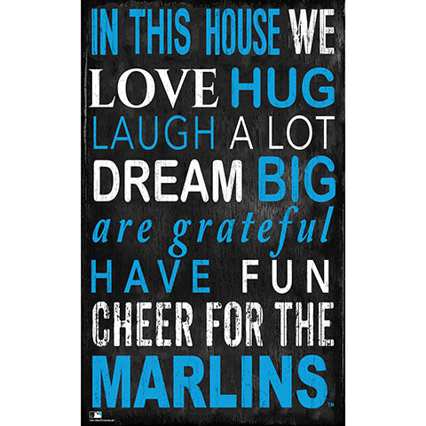 Miami Marlins In This House Sign