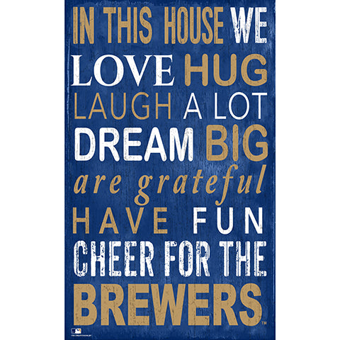 Milwaukee Brewers In This House Sign