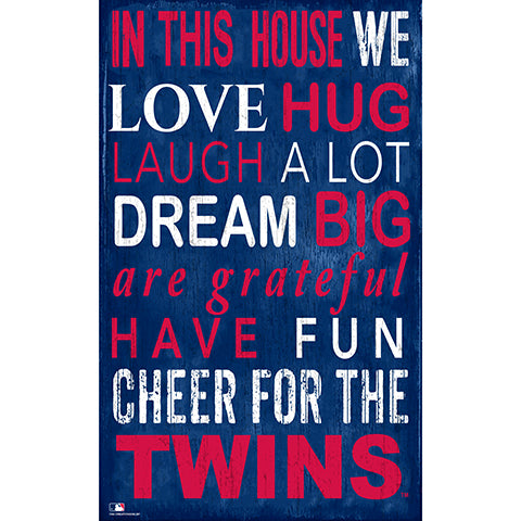 Minnesota Twins In This House Sign