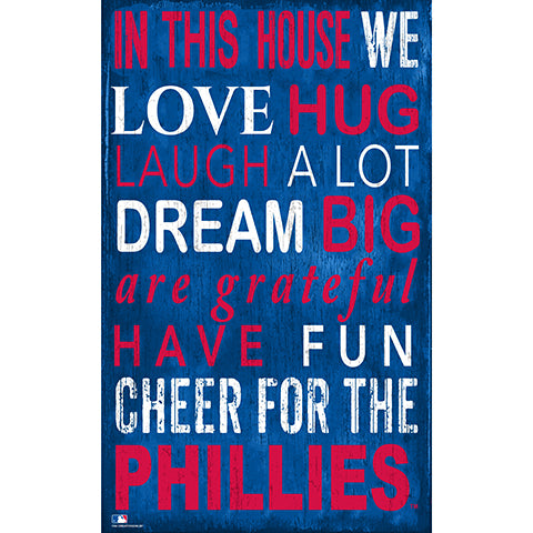 Philadelphia Phillies In This House Sign