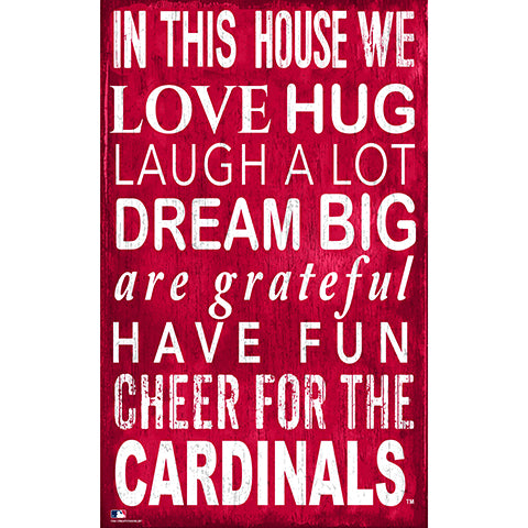 St. Louis Cardinals In This House Sign