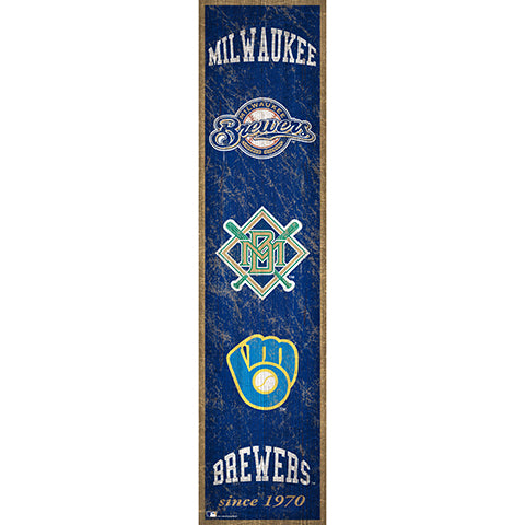 Milwaukee Brewers Heritage Banner 6x24 Sign