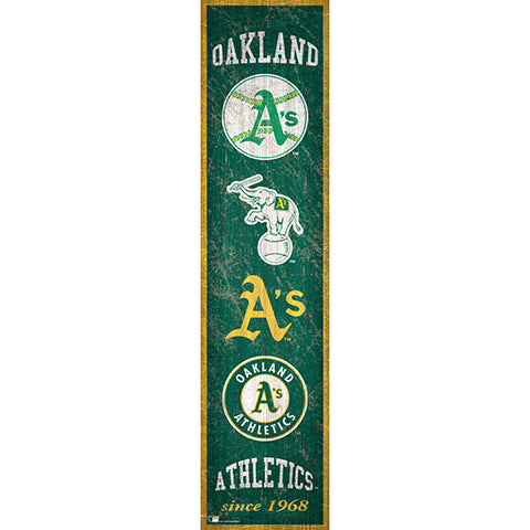 Oakland Athletics Heritage Banner 6x24 Sign