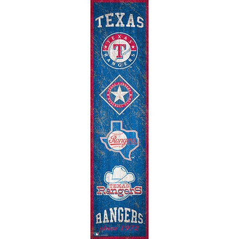 Texas Rangers Heritage Banner 6x24 Sign