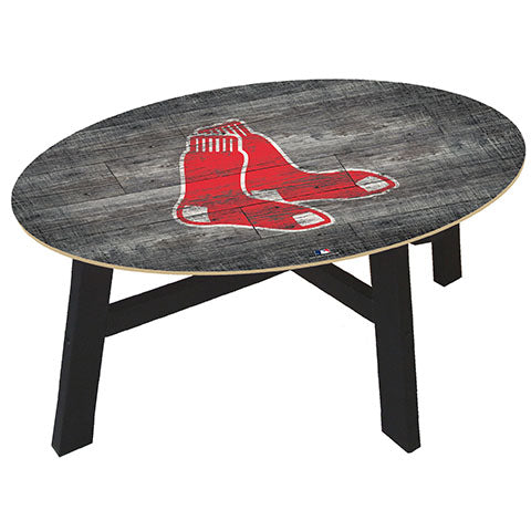 Boston Red Sox Distressed Wood Coffee Table