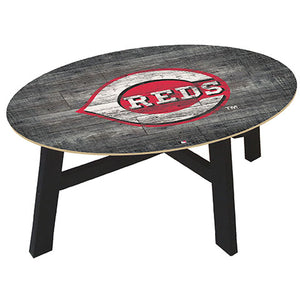 Cincinnati Reds Distressed Wood Coffee Table