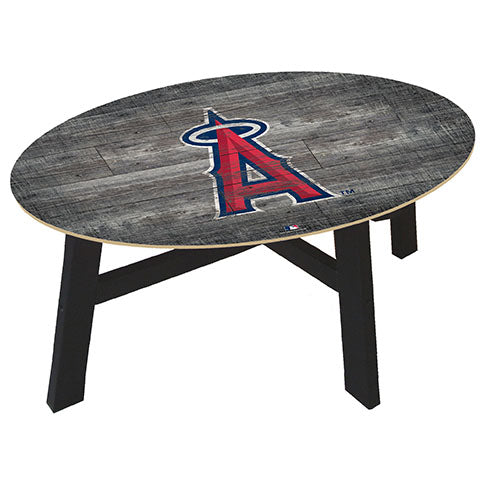Los Angeles Angels Distressed Wood Coffee Table