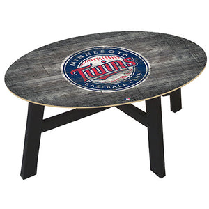 Minnesota Twins Distressed Wood Coffee Table