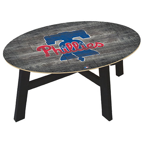 Philadelphia Phillies Distressed Wood Coffee Table