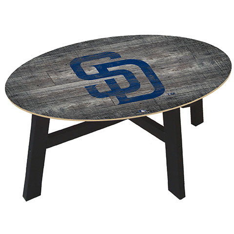 San Diego Padres Distressed Wood Coffee Table