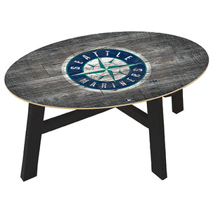 Seattle Mariners Distressed Wood Coffee Table