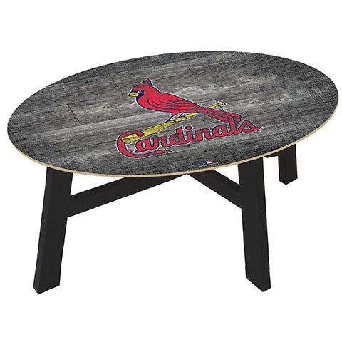 Saint (St.) Louis Cardinals Distressed Wood Coffee Table