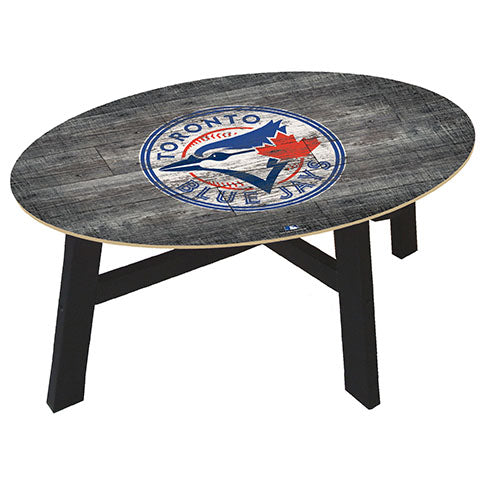 Toronto Blue Jays Distressed Wood Coffee Table
