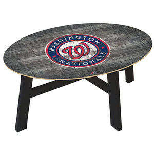 Washington Nationals Distressed Wood Coffee Table