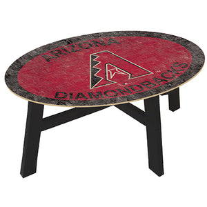 Arizona Diamondbacks Logo Coffee table with team color