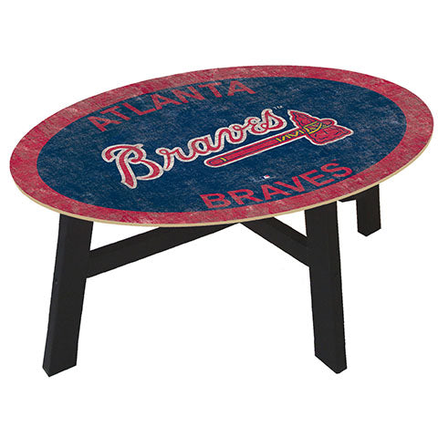 Atlanta Braves Logo Coffee table with team color