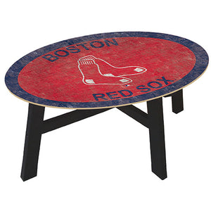 Boston Red Sox Logo Coffee table with team color