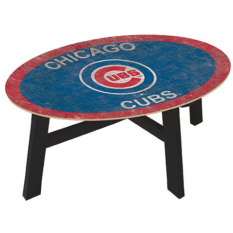 Chicago Cubs Logo Coffee table with team color